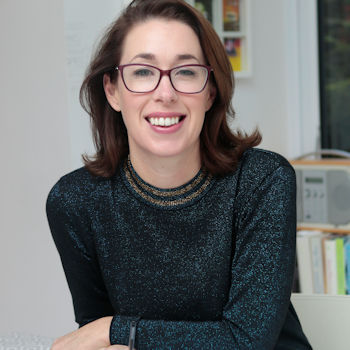 Blogger Helen Perry wearing glasses