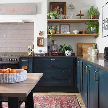 The kitchen of interiors influencer Lisa Dawson