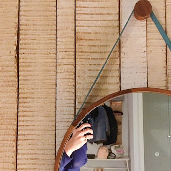Bedroom mirror, Watergate Bay Hotel, Cornwall