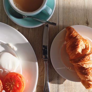 Breakfast at the Watergate Bay Hotel, Cornwall