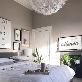 The bedroom of interiors stylist Lisa Dawson