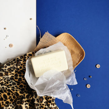 A flat lay photograph of soap by Helen Perry
