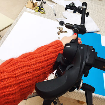 Using a manfrotto magic arm to photograph a flat lay image