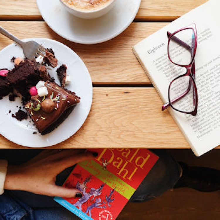 Chocolate cake at the Roald Dahl Museum, by Helen Perry