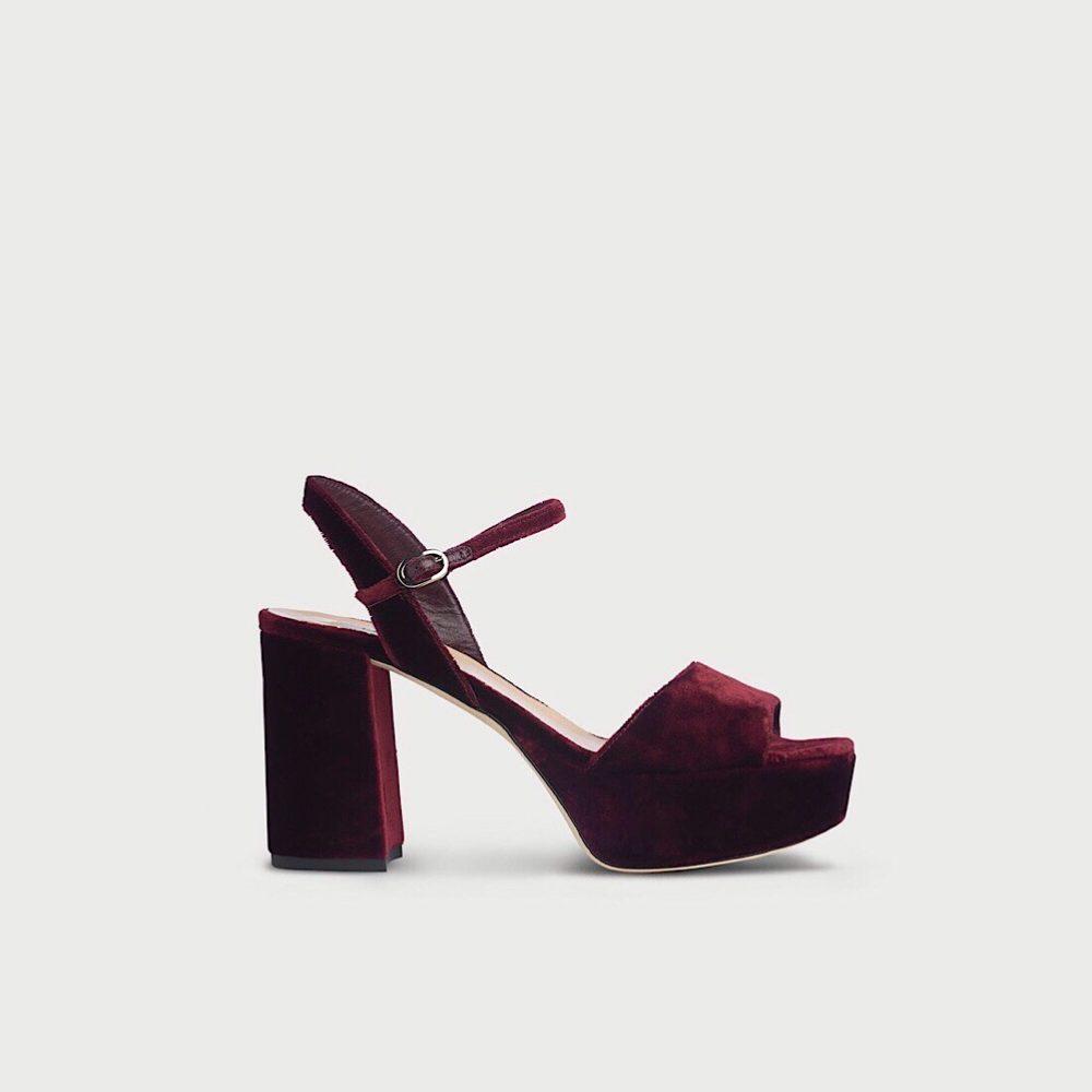 LK Bennett velvet sandals @notaboutthekids Christmas list