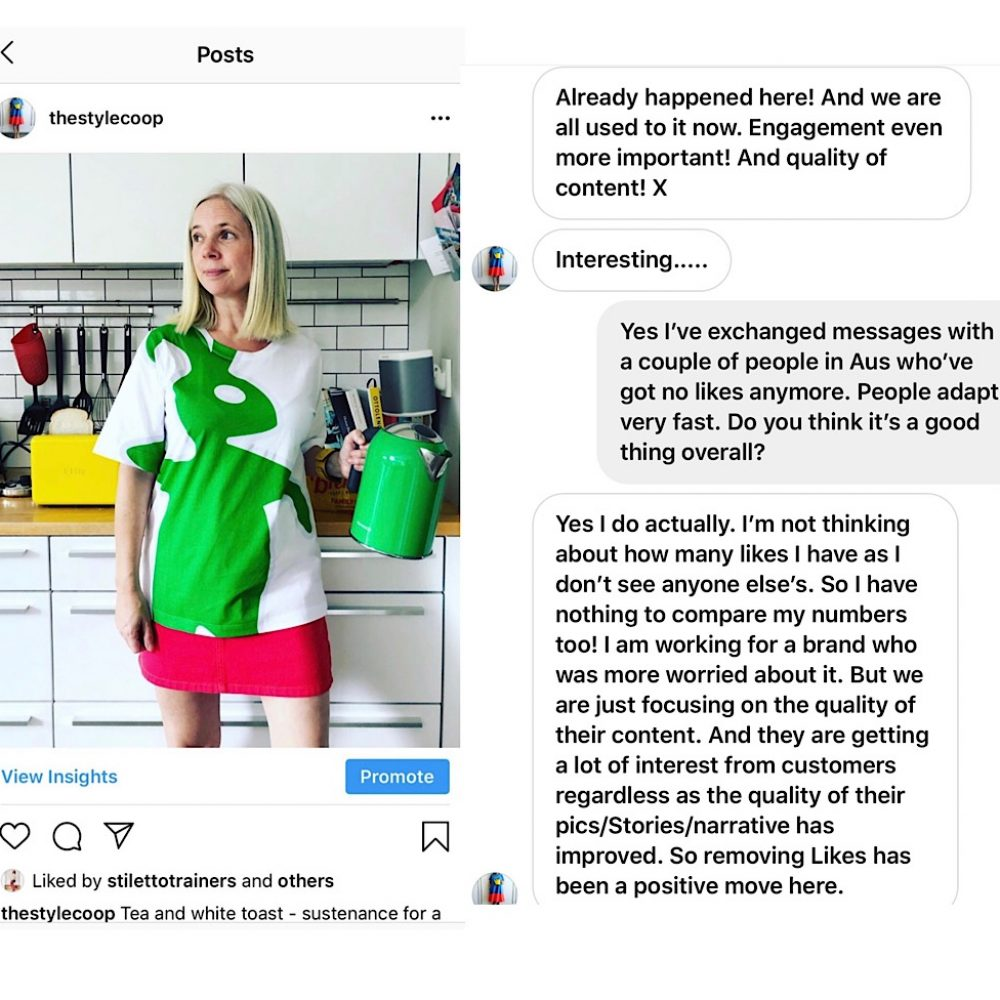 Instagram remove likes by Helen Perry @notabouthekids