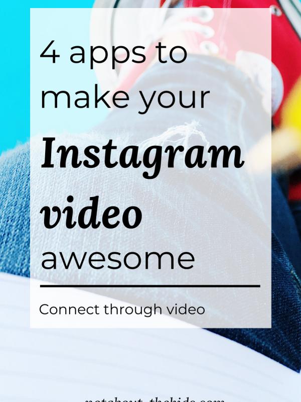 4 apps for Instagram video