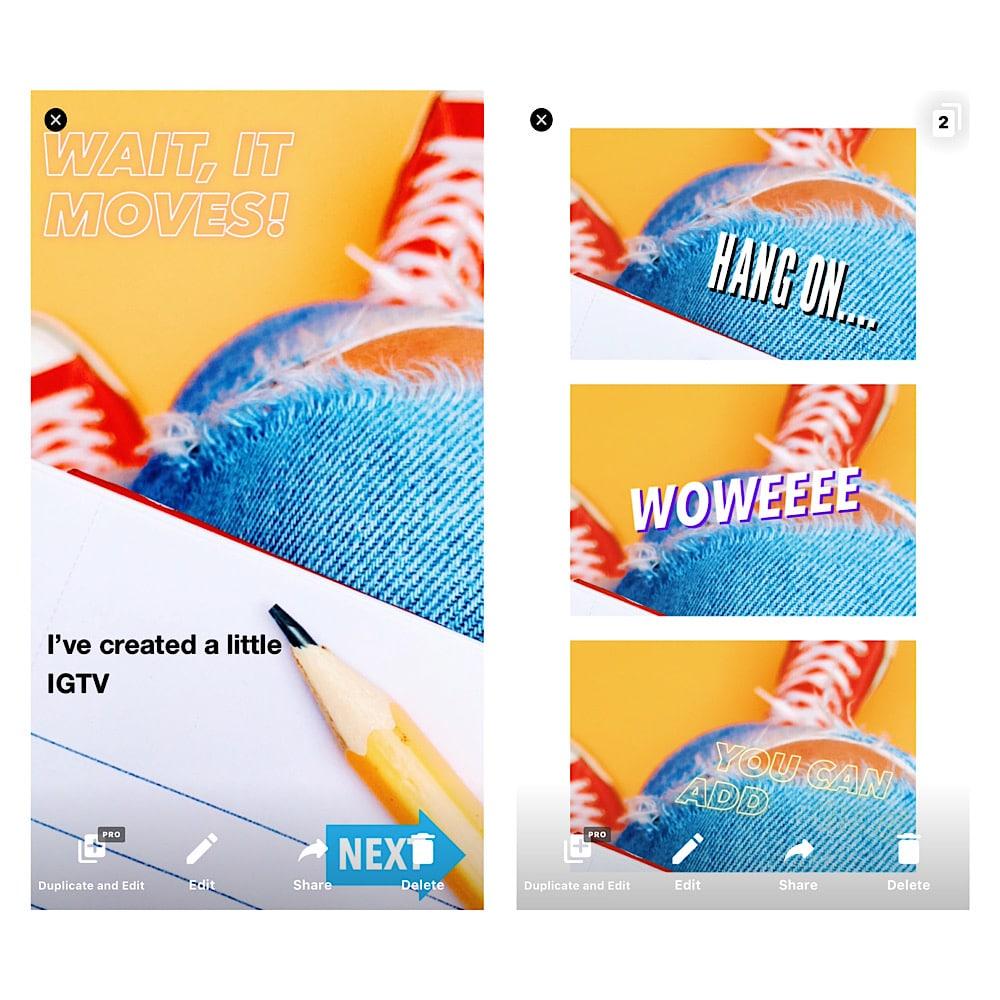 Mojo app for Instagram Stories
