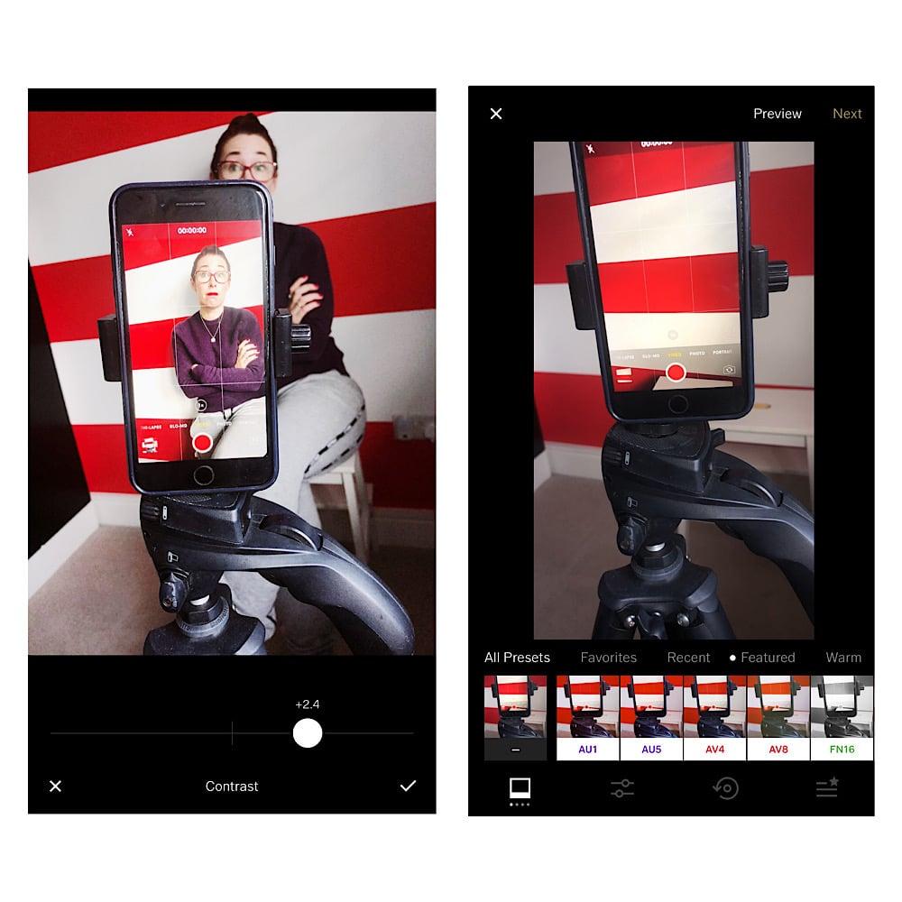 VSCO app for Instagram video